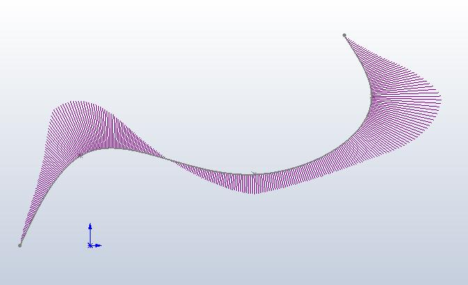 spline with curvature comb