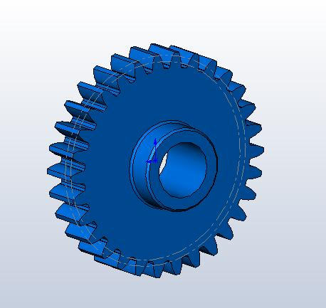 screenshot of Geartrax sample part